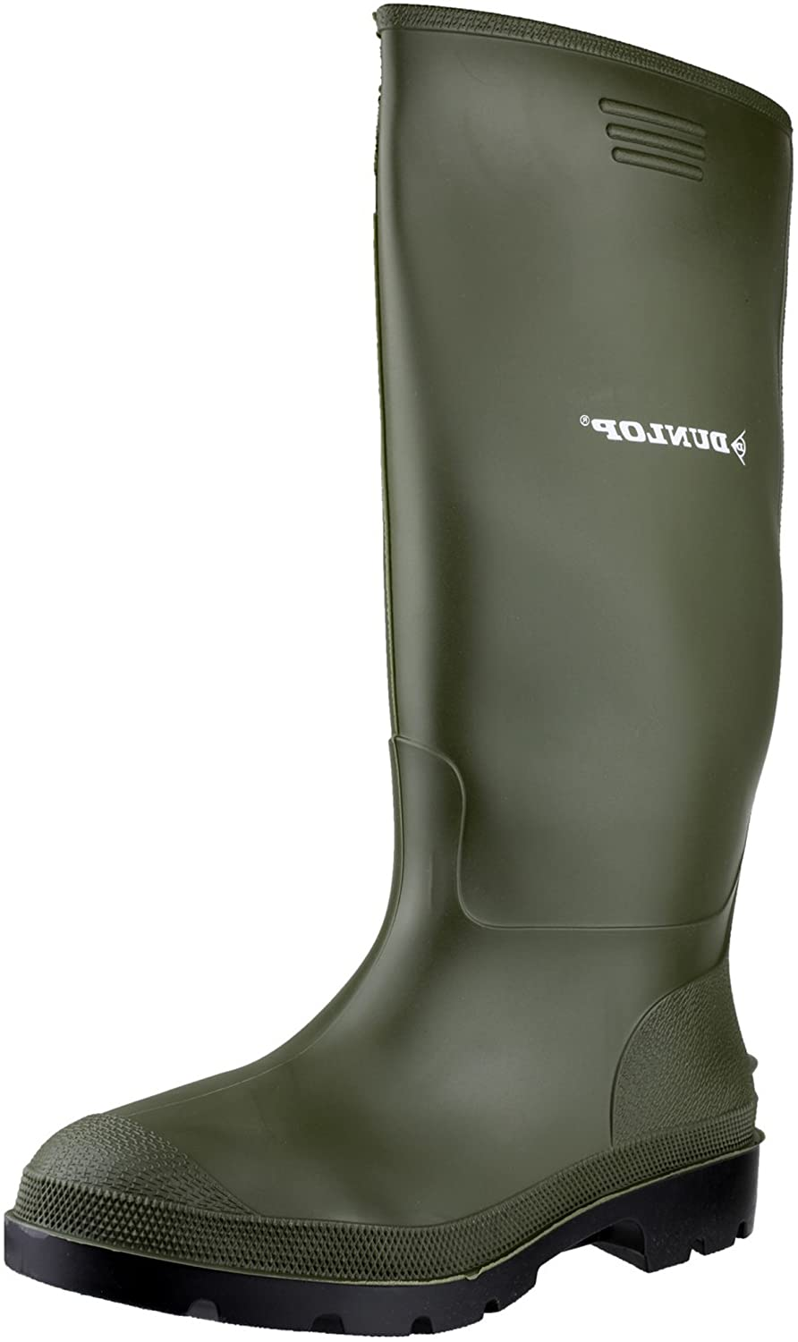 61ea25784dbe46 Dunlop Pricemastor 380VP Safety Work Wellington Wellies Boot Mens Footwear  Green  Amazon.co.uk  Shoes   Bags