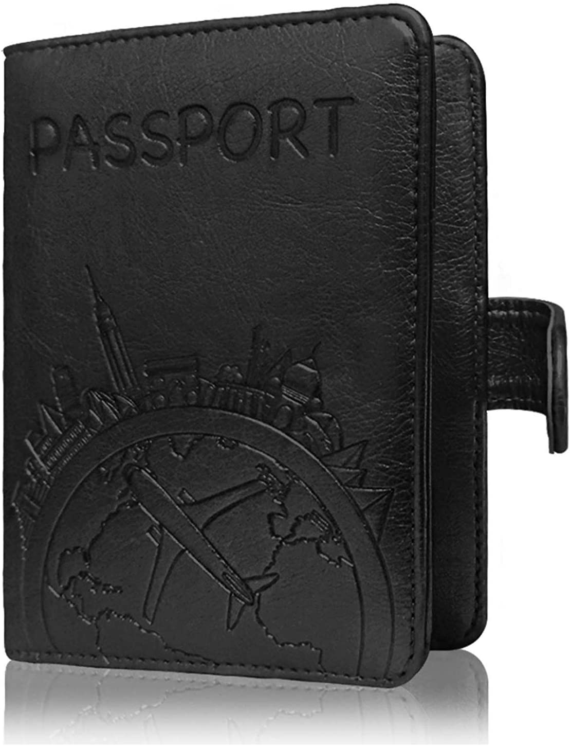 Christmas Gift Sets And Candy Leather Passport Holder Cover Case Blocking Travel Wallet