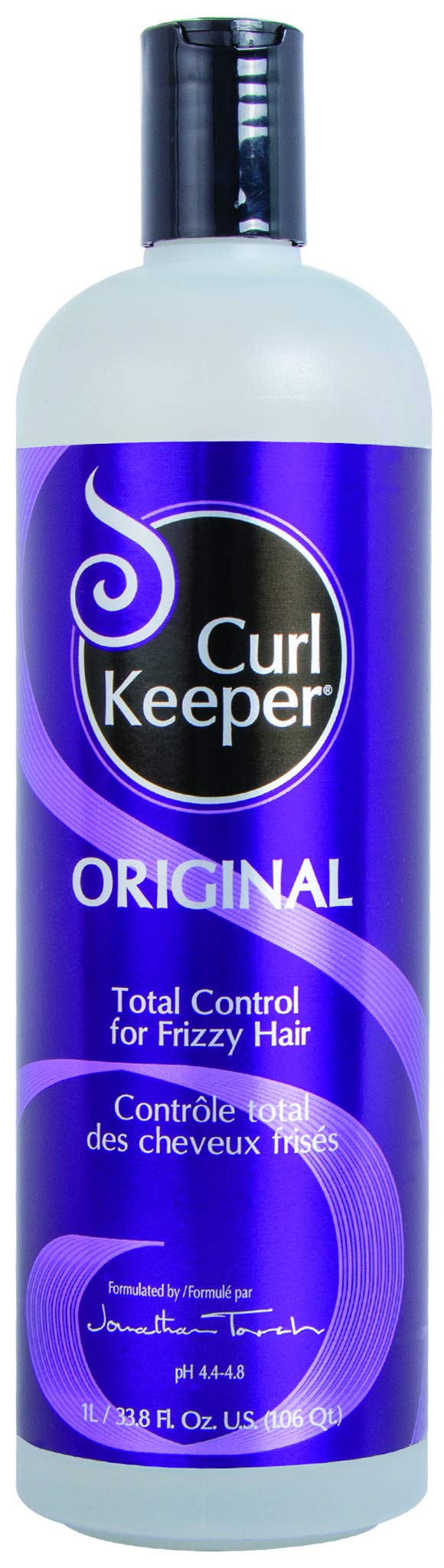 CURLY HAIR SOLUTION Curl Keeper Original - Total Control In All Weather Conditions For Well Defined, Frizz-Free Curls With No Product Build Up (33.8 Ounce / 1 Liter)