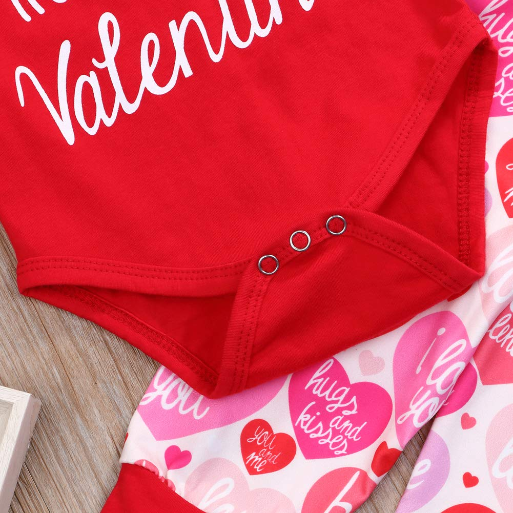 My First Valentines Day Outfit Set Baby Girls Boy Cute Romper
