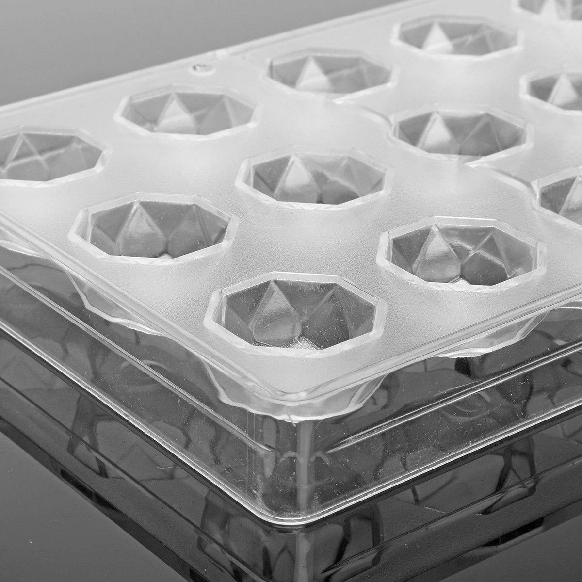 Cikuso Polycarbonate Dur Transparent de Fabricant de Chocolat DIY 21 Demi Moule de Sucrerie de Boule Mini Moule