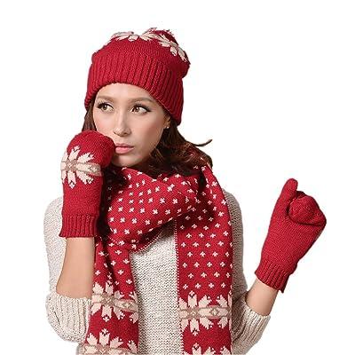 Withered - Ensemble bonnet, écharpe et gants - Femme
