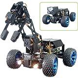 Adeept PiCar-Pro Raspberry Pi Smart Robot Car Kit Programming 2-in-1 4WD Car Robot with 4-DOF Robotic Arm,Electronic DIY Robo