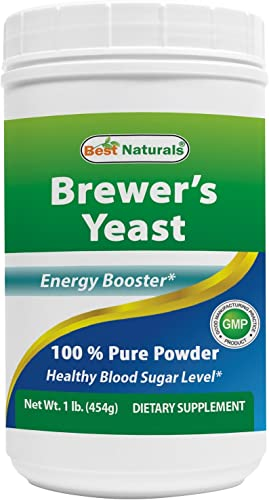 Best Naturals 100 Pure Brewers Yeast Powder – 16 oz – Supports for Increased Breast Milk Supply During Breastfeeding, Lactation, Digestive Health