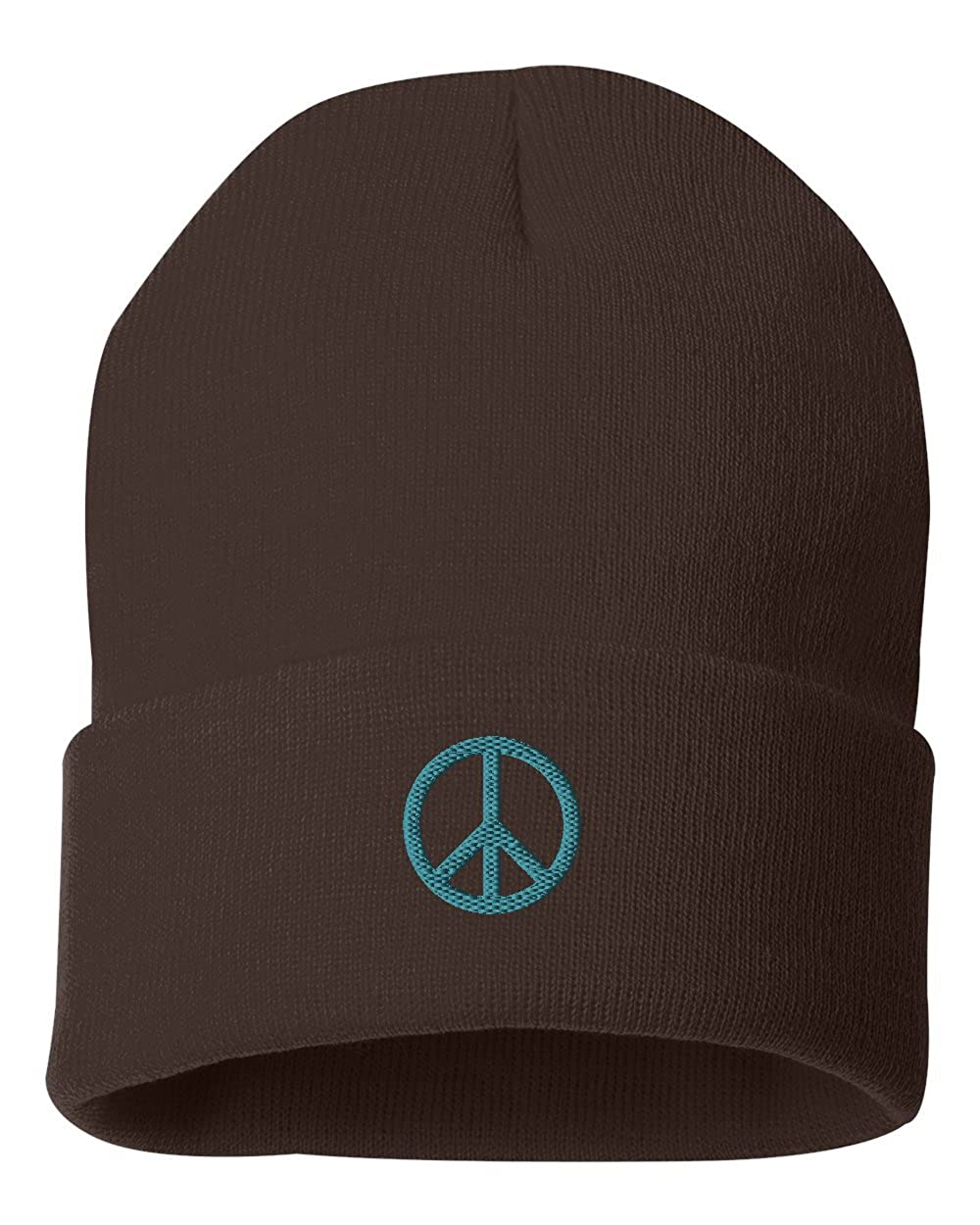 Peace Sign Custom Personalized Embroidery Embroidered Beanie