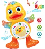 Kids Dancing Duck with Real Dancing Action & Music Flashing Lights, Multi Color