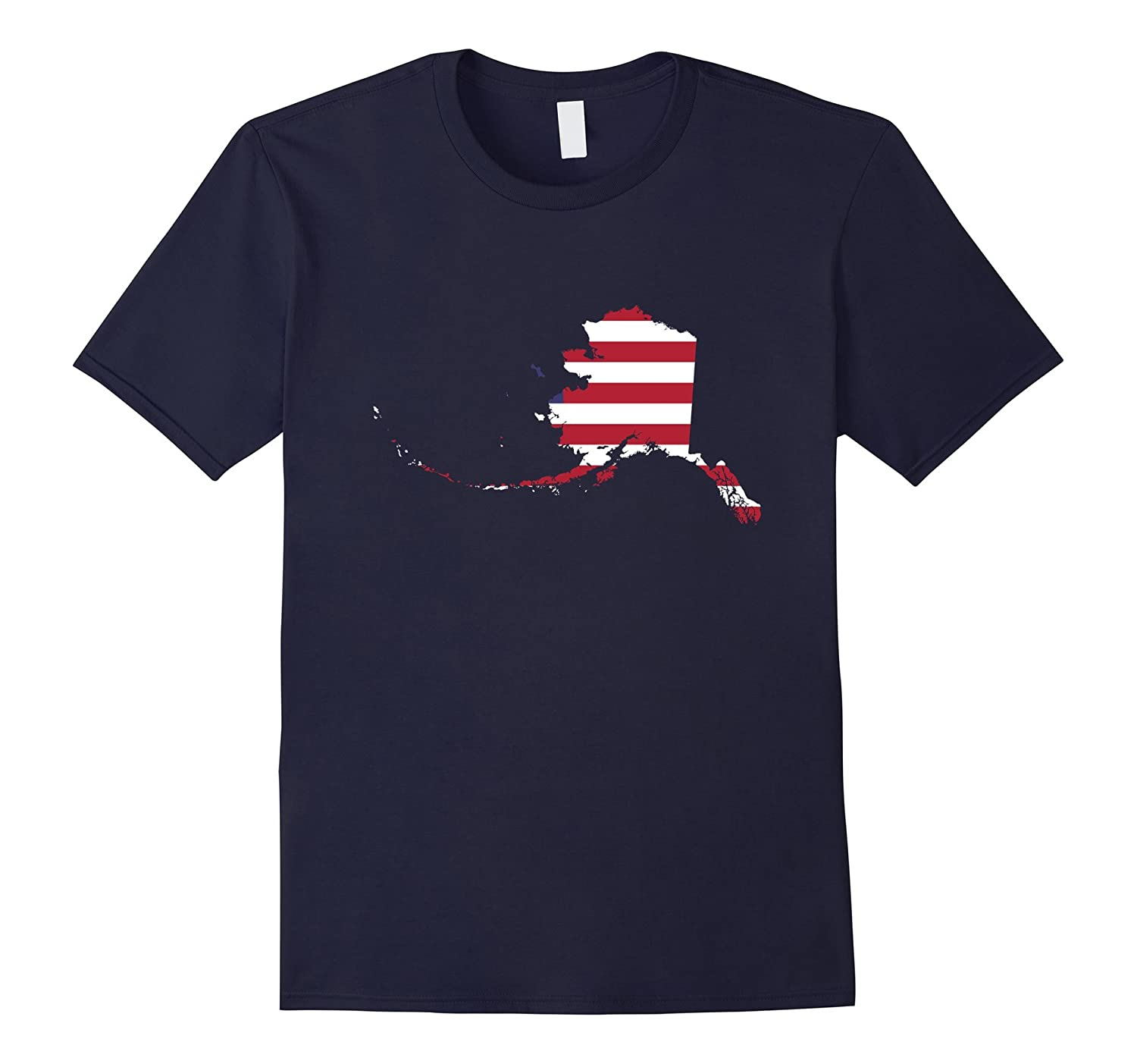 4th Of July Alaska State American Flag Patriotic Celebration Party T-Shirt-BN