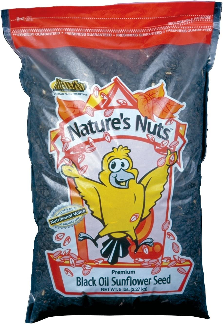 Natures Nuts 00035 Chuckanut Products 20 Lbs Premium Black Oil Sunflower