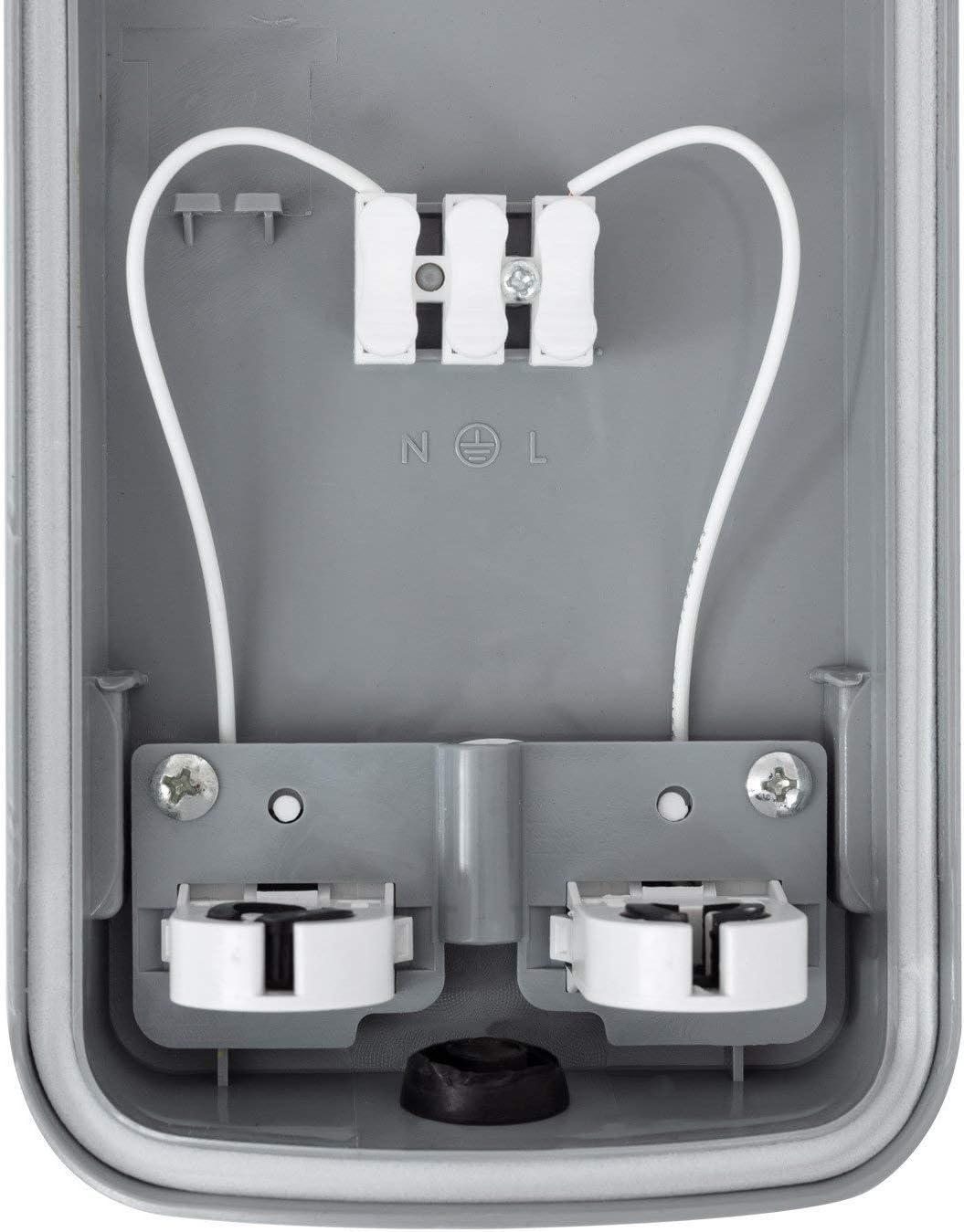 LEDKIA LIGHTING Kit Pantalla Estanca Slim con dos Tubos LED 600mm Conexi/ón un Lateral Blanco C/álido 2800K 3200K