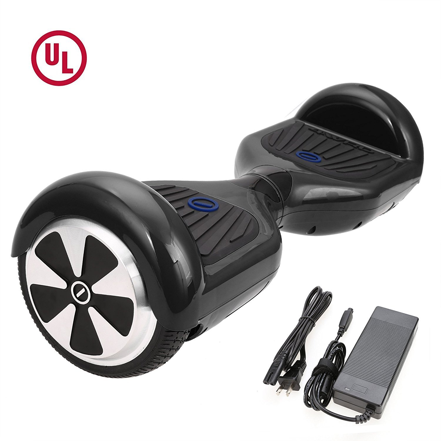 HIGH ROLLER 6.5'' Waterproof Hoverboard with Buffing Shell UL 2272 Certified Self-Balancing Scooter with LED lights , Black
