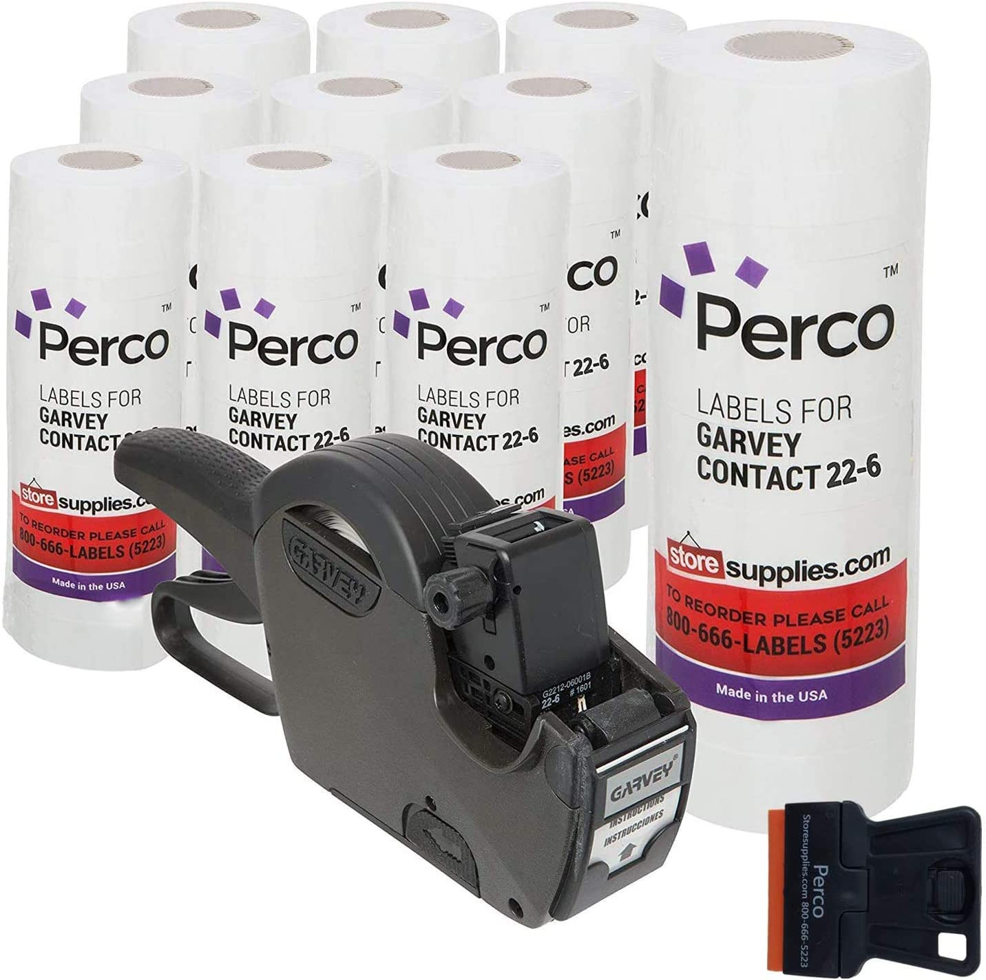 Garvey 22-6 Pricing Gun with Labels Value Pack : Includes 22-6 Label Gun, 110,000 White Price Marking Labels and Inker.