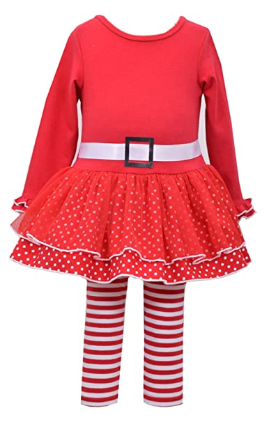 45013452e Amazon.com  Bonnie Jean Little Girls Christmas Santa Red Holiday ...