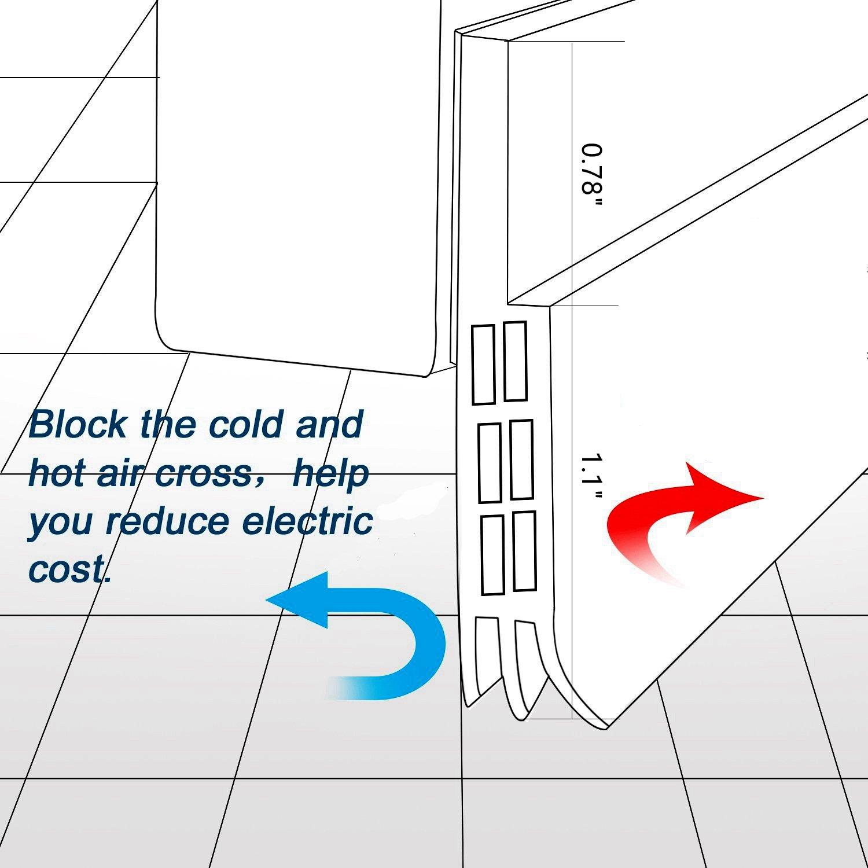 efficacit/é /énerg/étique Porte sous d/étanch/éit/é porte bouchon de bruit et isolation phonique Porte m/ét/éo de d/écapage Boudin de porte de porte 124,5/cm