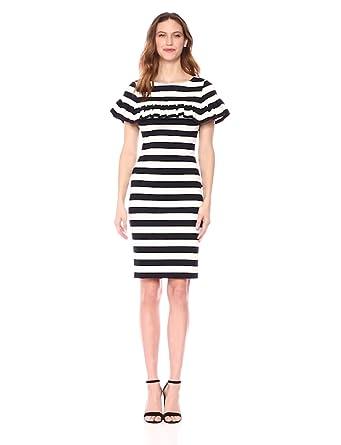 27e2d92a Eliza J Women's Ruffle Sheath Dress at Amazon Women's Clothing store: