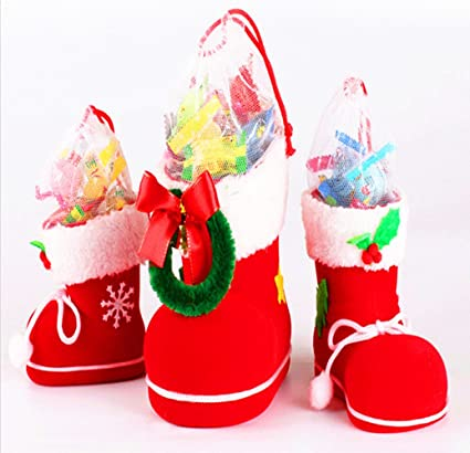 homecube christmas candy bags santa gift bags candy bag portable gift baskets pattern six