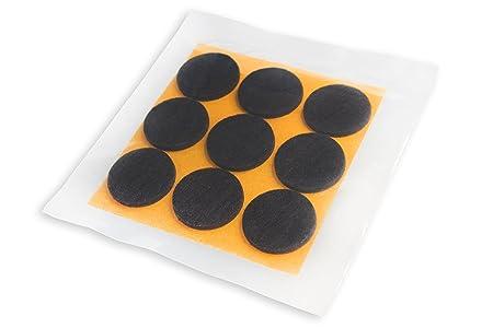 Haftplus feltrini adesivi neri rotondi per mobili forte