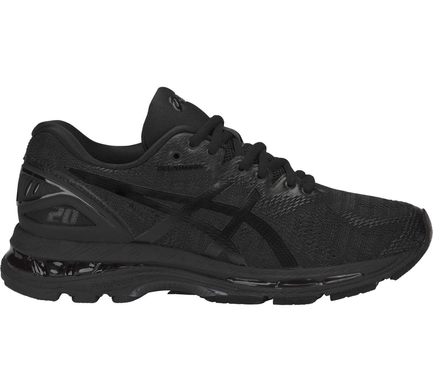 ASICS Women's Gel-Nimbus 20 Running Shoe, black/black/carbon, 6.5 Medium US by ASICS
