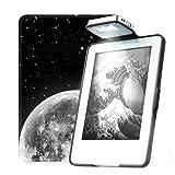 彩霓吉尚 亚马逊new Kindle阅读灯保护套薄 休眠Kindle558保护套带灯 558带灯-星空-黑壳