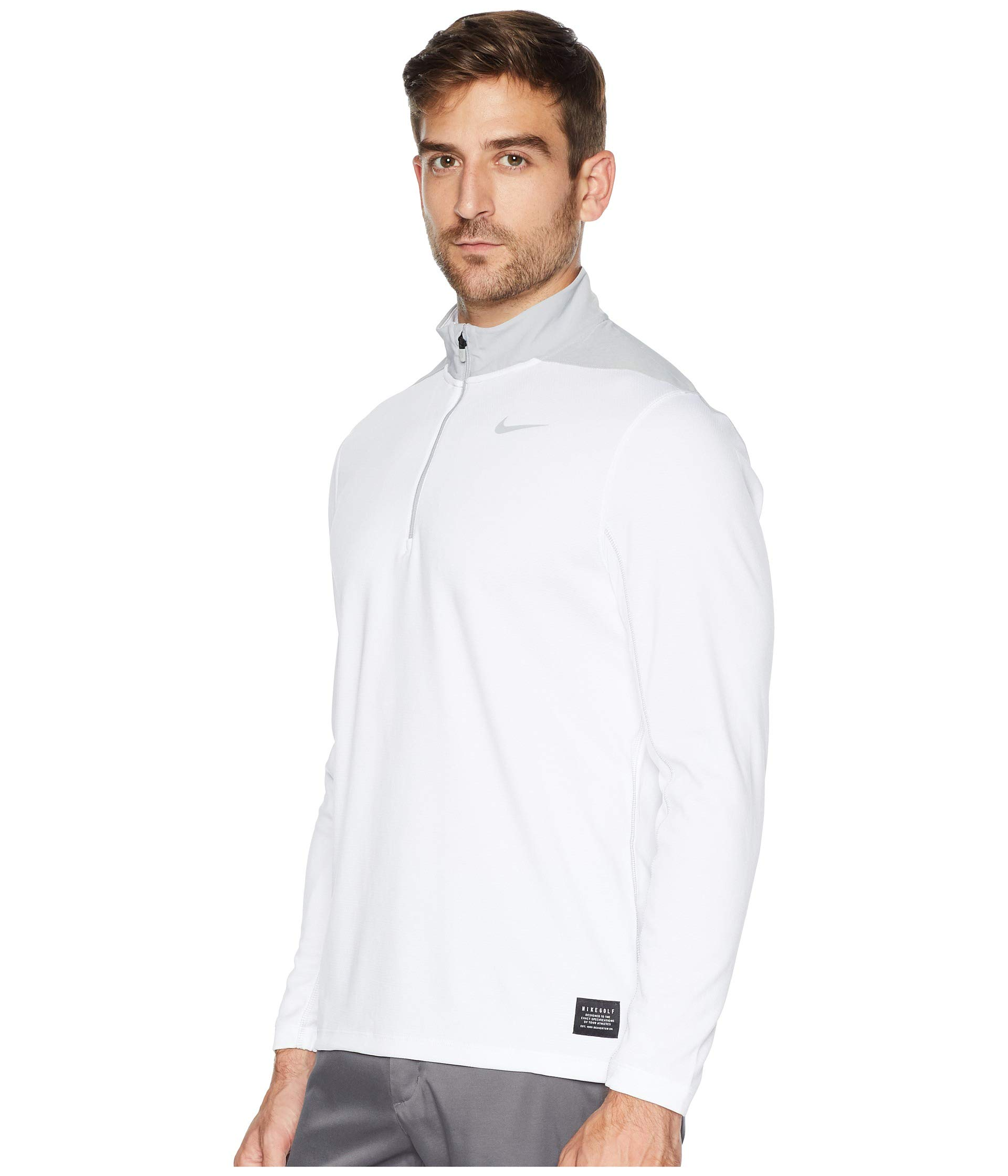 NIKE Men's Dry Top Half Zip core Golf Top (White/Wolf Grey, XXX-Large) by NIKE (Image #2)