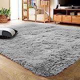 LOCHAS Ultra Soft Indoor Modern Area Rugs Fluffy Living Room Carpets for Children Bedroom Home Decor Nursery Rug 4x5.3 Feet,