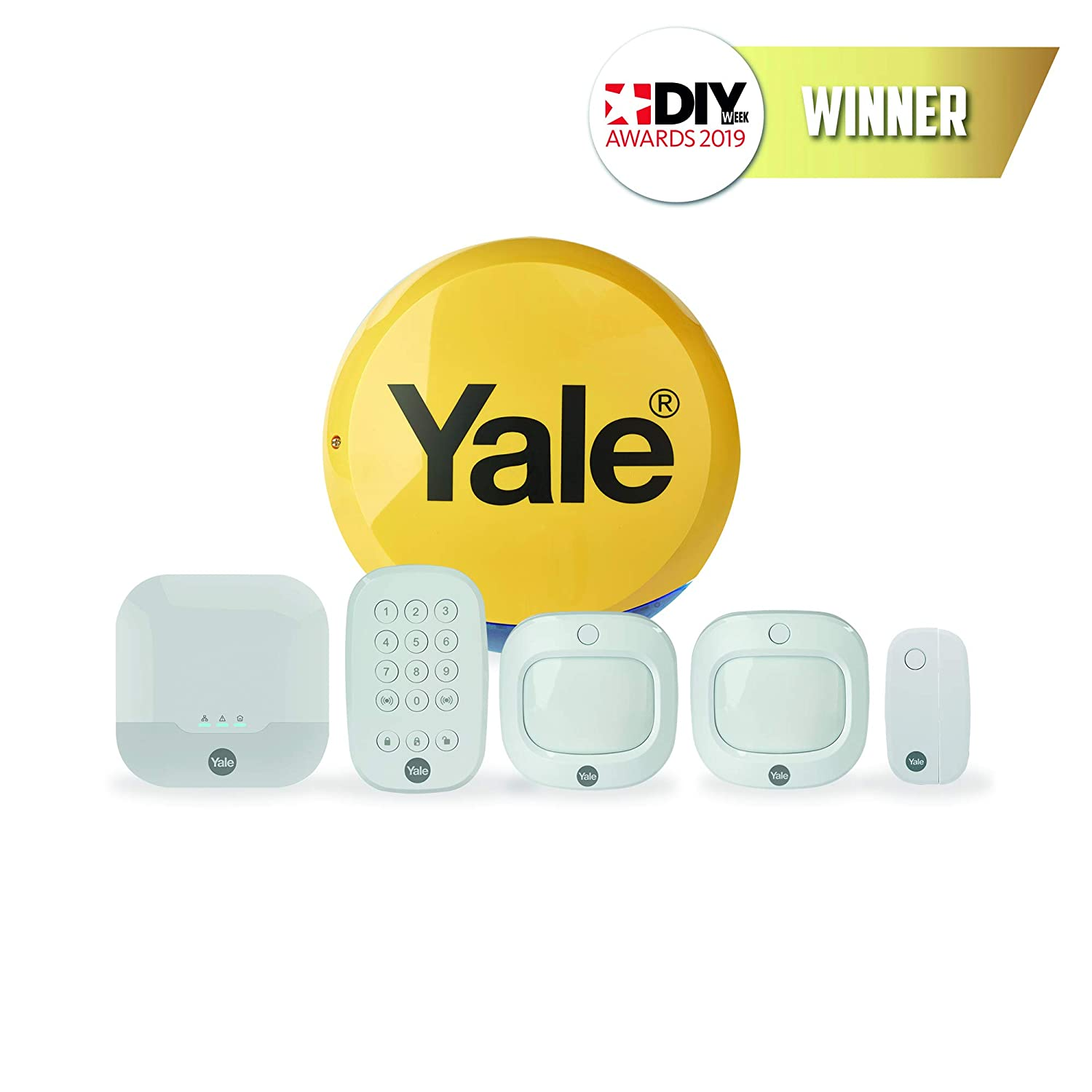 Yale IA-320 Sync Smart Home Alarm - Family Kit, Works with Alexa and  Philips Hue