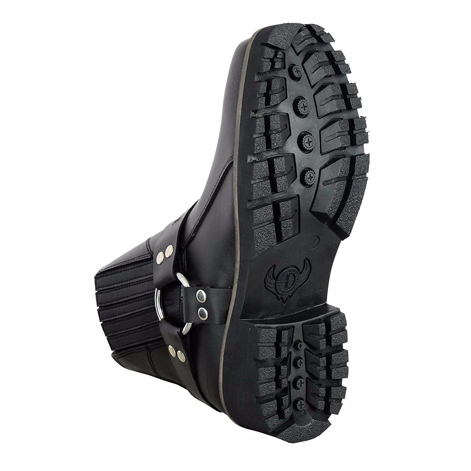 UK 10 // EU 44 Zip Lace /& Strap Free ? Comfort Guaranteed Full Black PROFIRST Pure Leather Pull on Chappar Mens Boots Motorbike Motorcycle Waterproof Touring Short Shoes