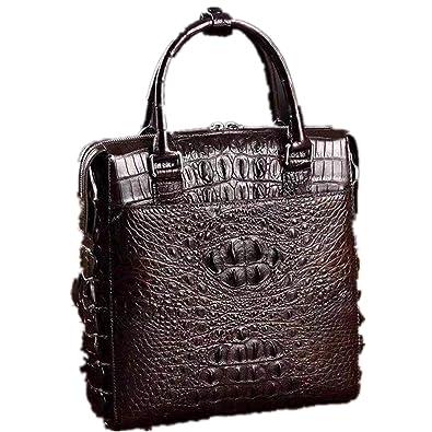5873fbfff988 新品 ワニ革 クロコダイルレザー ビジネスバッグ 本革 鞄 メンズバッグ 大容量 多機能