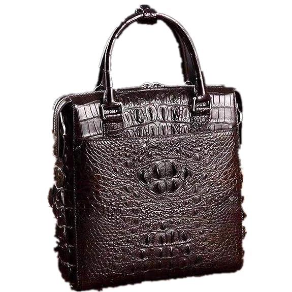 7744bd4cab99 Amazon   新品 ワニ革 クロコダイルレザー ビジネスバッグ 本革 鞄 メンズバッグ 大容量 多機能   トートバッグ