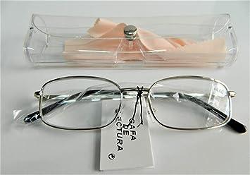 Gafas lupa de lectura de vista + 4.00 + funda caja Etui montura ...