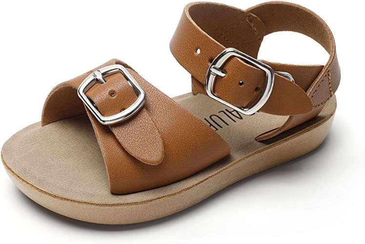 SANDALUP Summer Sandals w Double Buckle for Toddler GirlsBoys