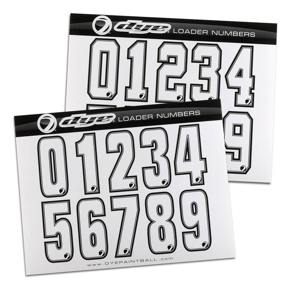 67a4459a4309b Dye Paintball Loader Number Stickers Dye Precision 0725239179388 ...