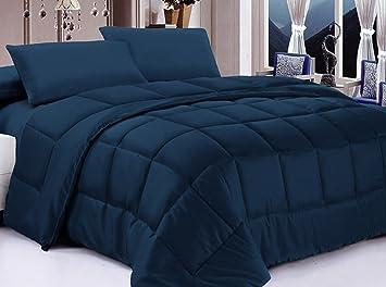posh home alternative down comforter twin navy