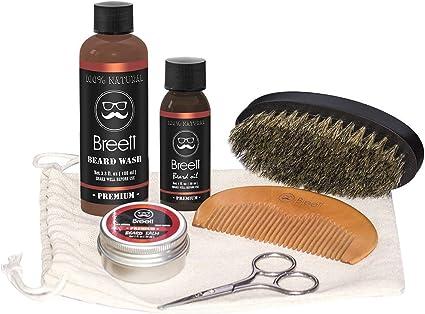barba cuidado kit, Breett barba aceite, bálsamo barba, barba ...