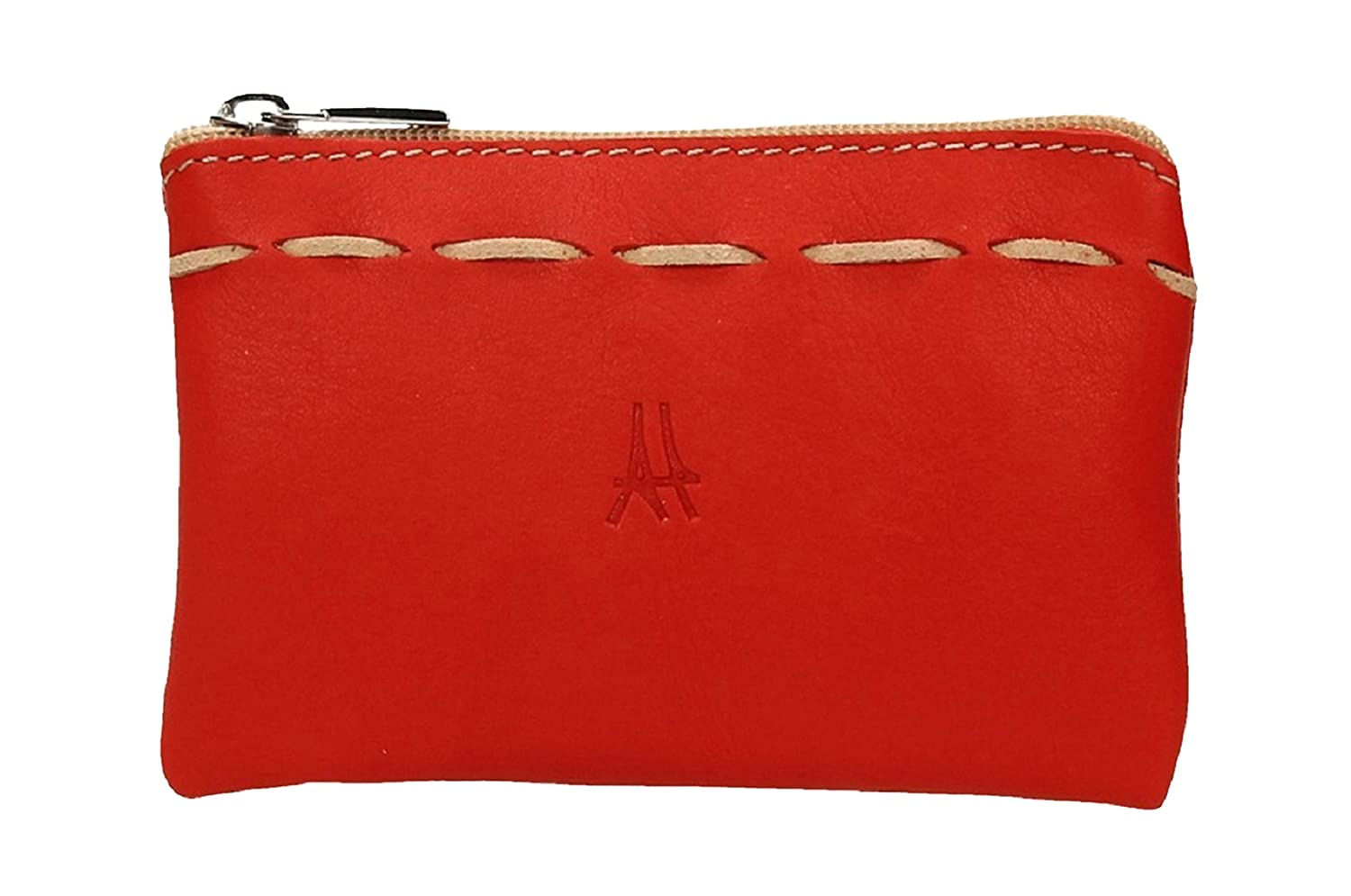 ANTHER P1246R Monedero Piel color Rojo 14 X 9 cm: Amazon.es ...