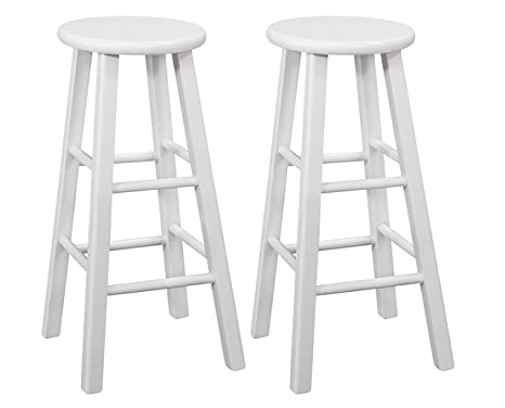 Magnificent Amazon Com Naomi Home Montrose Wooden Stool Set Of 2 Caraccident5 Cool Chair Designs And Ideas Caraccident5Info
