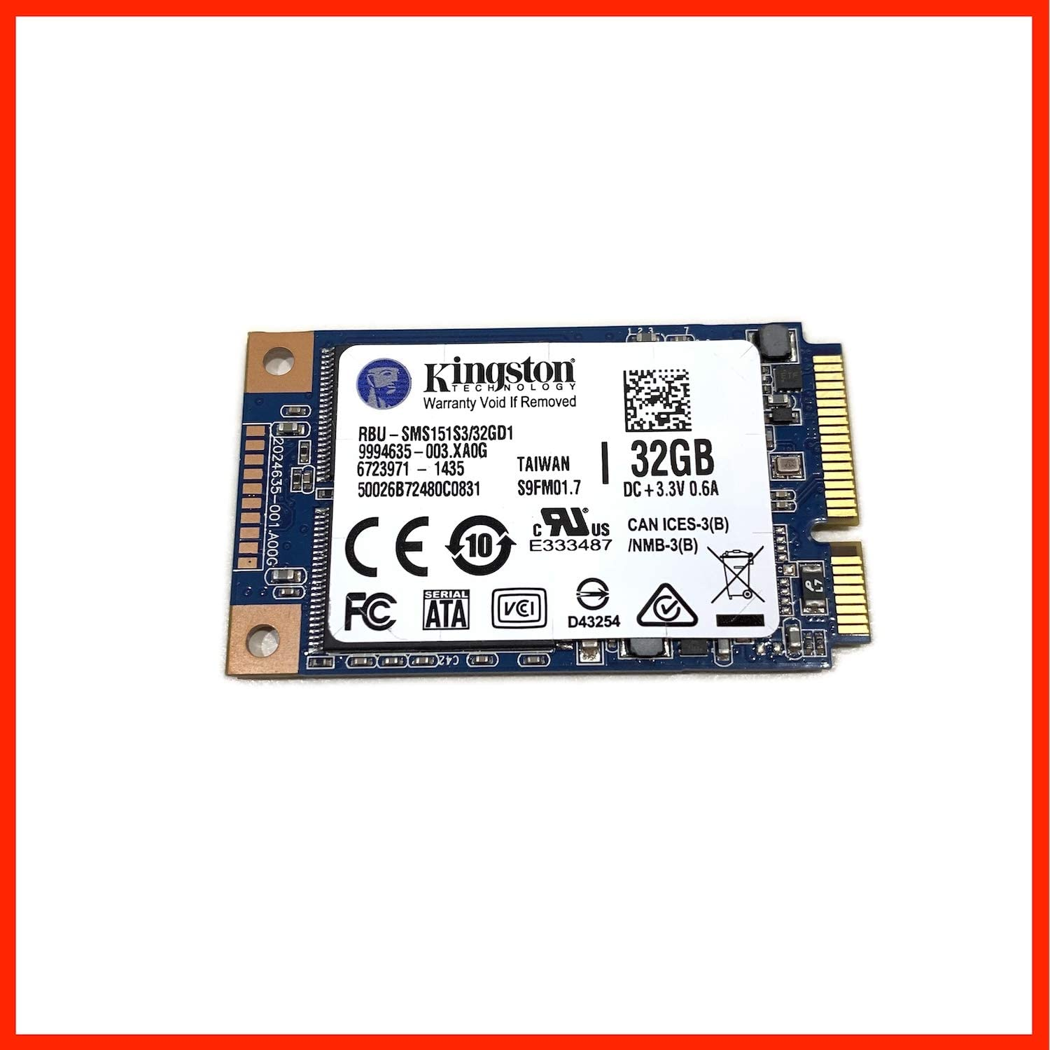 Kingston RBU-SMS151S3 32GD1 - Disco Duro SSD (32 GB, mSATA III, 6 ...