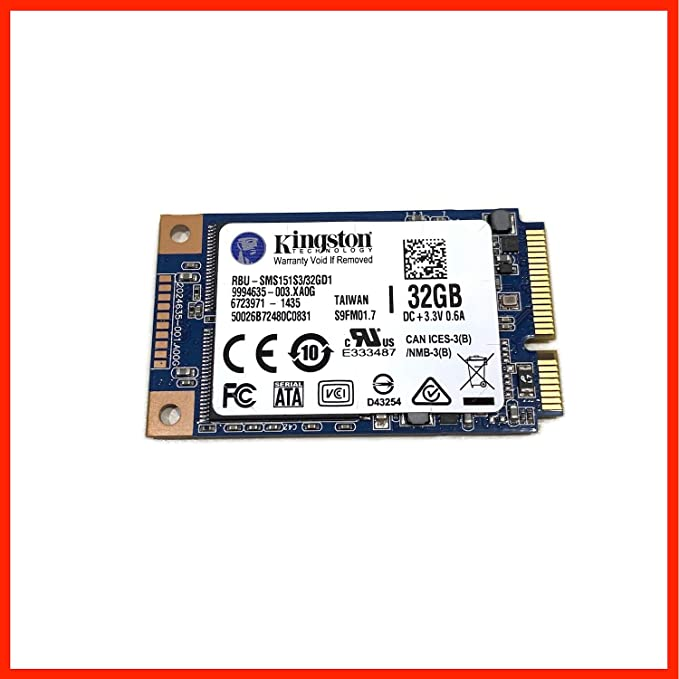 Kingston RBU-SMS151S3 32GD1 - Disco Duro SSD (32 GB, mSATA III, 6 ...
