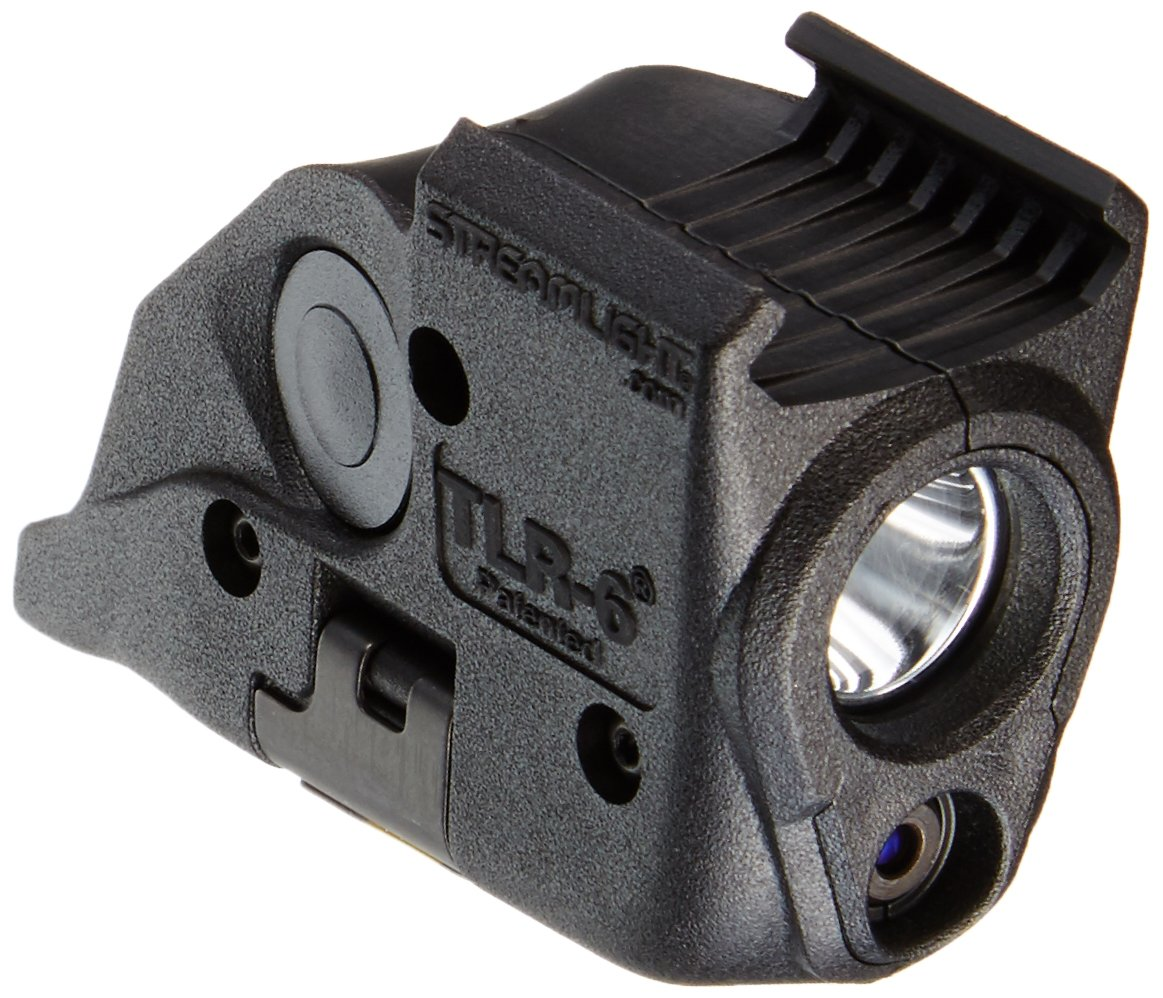 Streamlight 69293 TLR-6 Tactical Pistol Mount Flashlight 100 Lumen with Integrated Red Aiming Laser Only for M&P Railed Hand Guns, Black