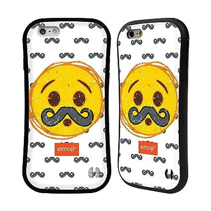 Amazon.com: Official Emoji Moustache Crushed Hybrid Case ...