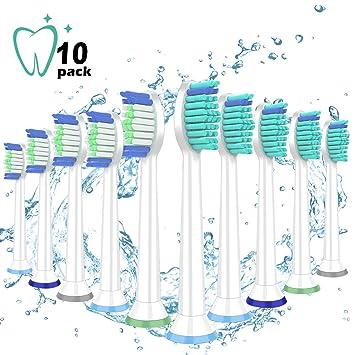 Zeuste-Cabezales de repuesto para cepillo de dientes, 10 paquetes ...