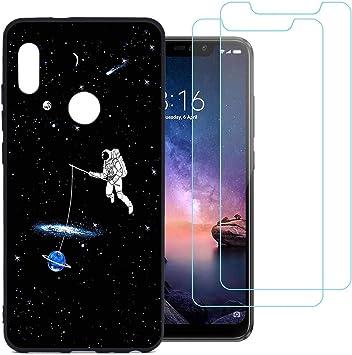 jrester Funda Xiaomi Redmi Note 6 Pro,Caminata Espacial Flexible ...