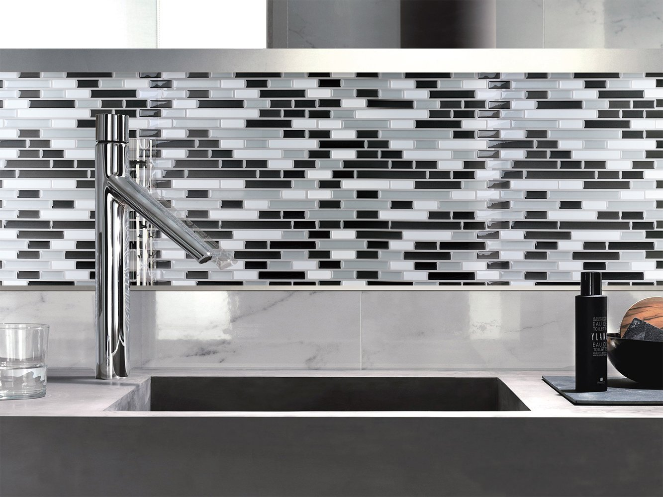 Smart Tiles Kitchen Backsplash Amazoncom Art3d 12 X 12 Peel And Stick Tile Kitchen Backsplash