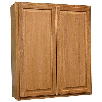 Amazon Com 36x42x12 In Hampton Wall Cabinet In Medium Oak
