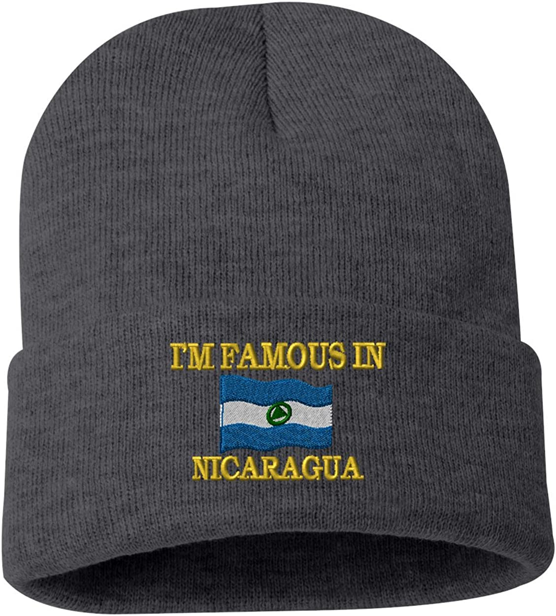 IM FAMOUS IN NICARAGUA Custom Personalized Embroidery Embroidered Beanie