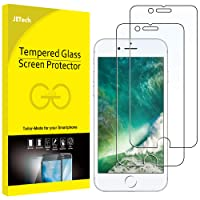 JETech Screen Protector for iPhone 8 Plus and iPhone 7 Plus Tempered Glass Film, 2-Pack