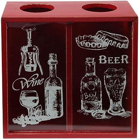 Nuevo Retro /'cerveza/' Gorra De Visualización De Botella Rojo montado en la pared