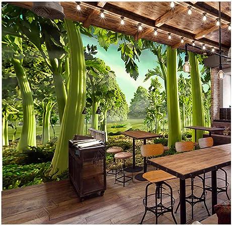 Lovemq Papel Tapiz Mural 3D Apio Pintado A Mano Green Forest ...