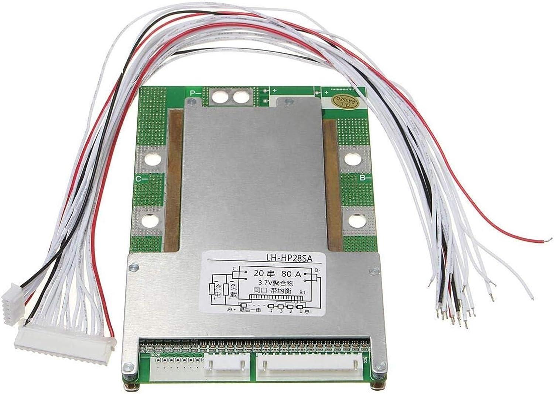 GYW-YW Tablero de Control 20S 72V Herramientas (84V) 80A Li-Ion Litio Protección Batter Tablero de BMS Mos + Equilibrio de la carpintería