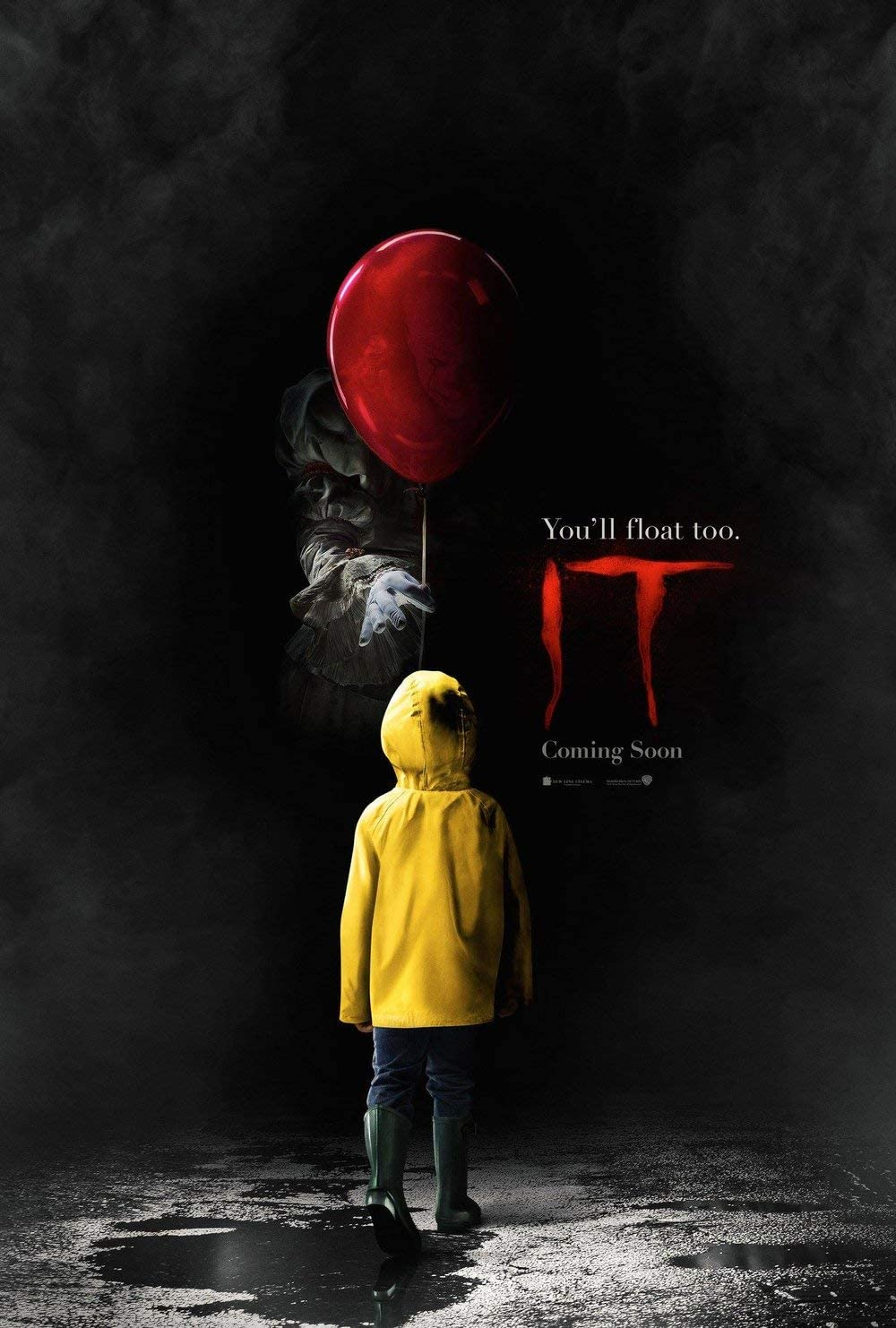"""Kopoo Promo 2017 Stephen King Pennywise IT Movie Poster, 12"""" x 18"""" (297 x 450 mm)"""