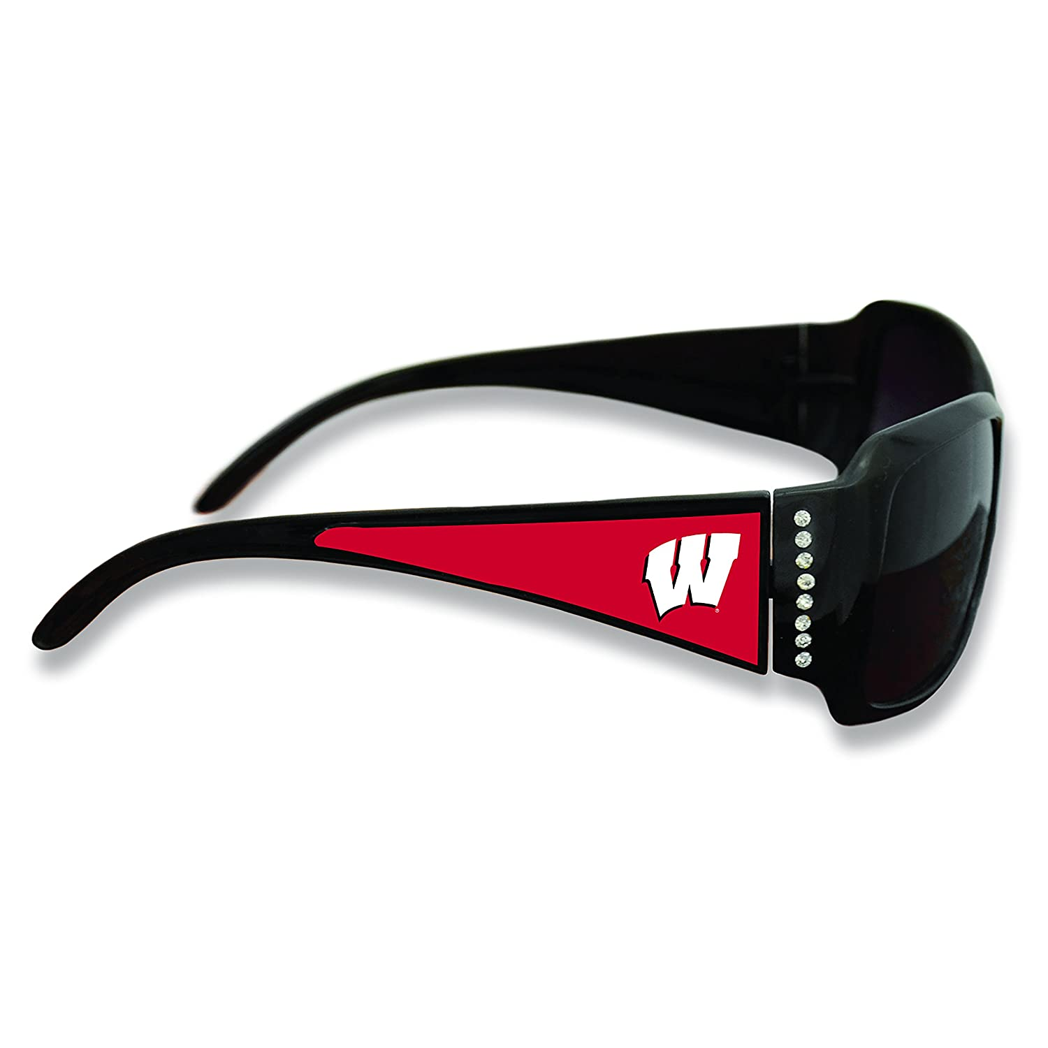 FTH Wisconsin Badgers Black Ladies Fashion Sunglasses with Arm Logo
